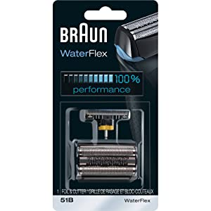 Braun Series 5 51B Foil & Cutter Replacement Head, Compatible with Waterflex Shaver