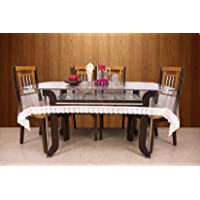 Kuber Industries PVC 6 Seater Transparent Dining Table Cover
