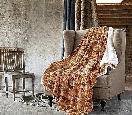 """BEIGE CHEVRON ZIGZAG CUTWORK Sherpa Luxury Throw Light Weight Blanket 50/"""" x 70/"""""""