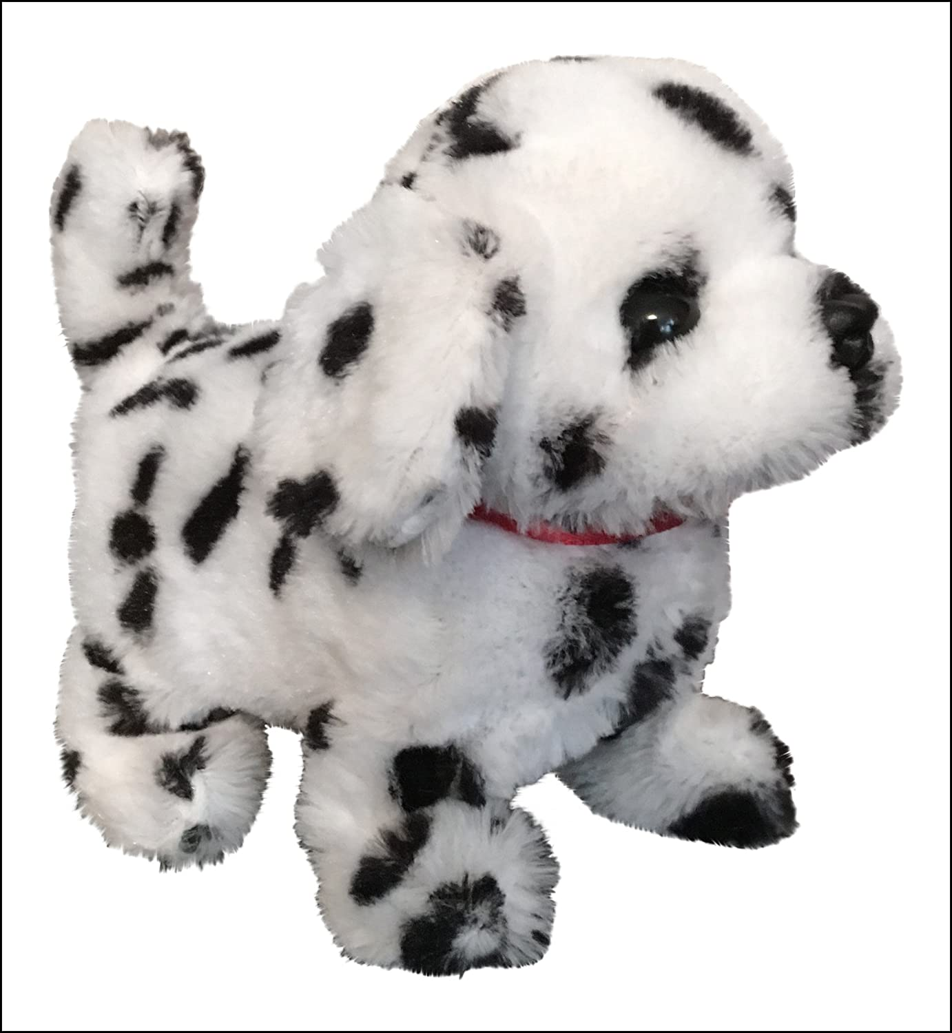 The Walking Barking and Tail Wagging Dalmatian Dog Pet Toy BATTERIES and EasyBuy Crayon Gift INCLUDED
