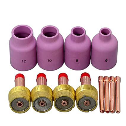 Diámetro grande Boquilla de aluminio Lentes de gas Cuerpos de collarín WP 17 18 26 Tig