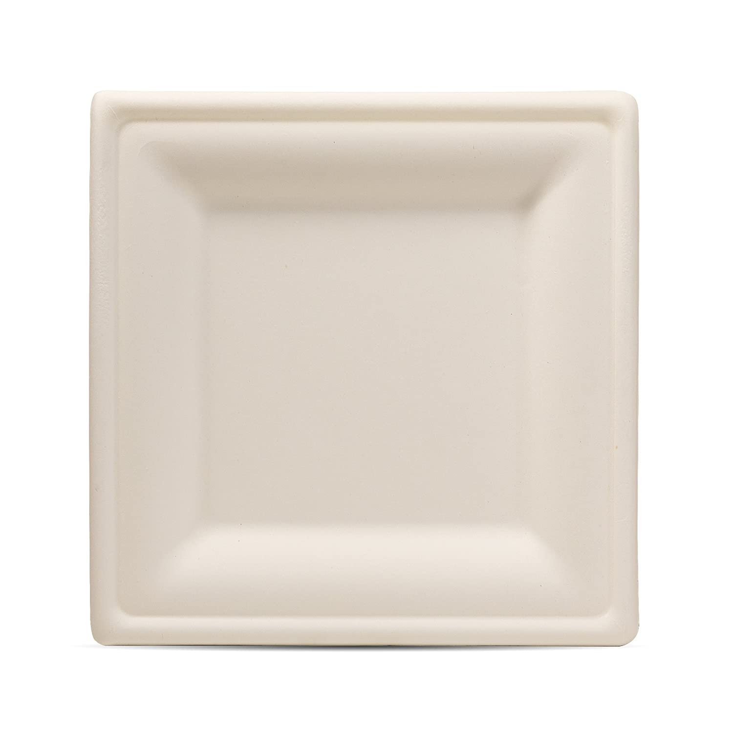 Select settings [100 COUNT] Microwaveable, compostable light brown square bowls (16 oz.) made from bagasse (sugarcane fiber)