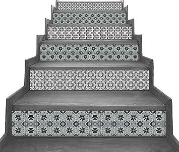 Adhesivo de vinilo de estilo marroquí con tiras verticales de la Escalera - pelar y Stick - auto adhesivo - Decoración del hogar hazlo tu mismo - Paquete de 5 tiras: Amazon.es: Bricolaje y herramientas