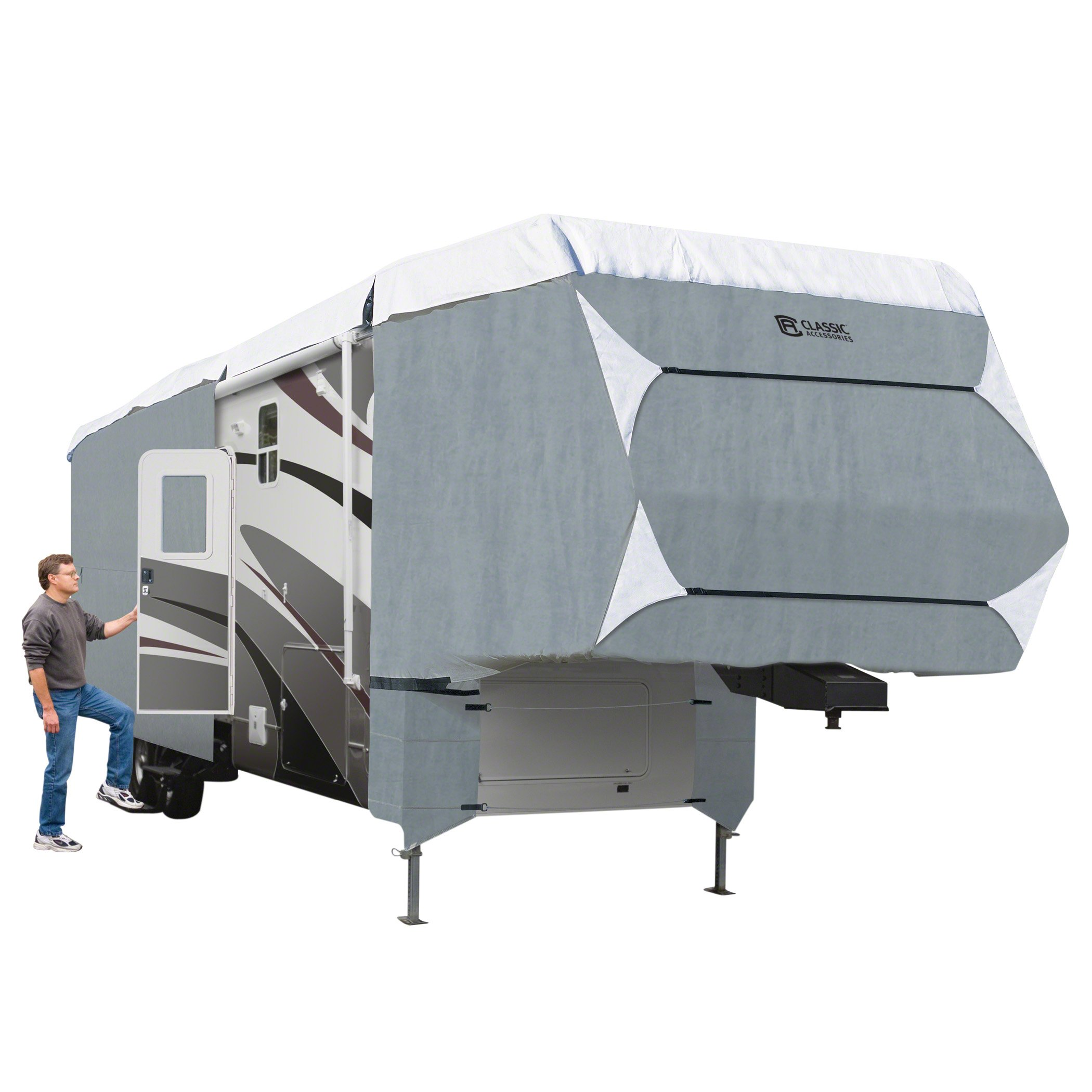 Classic Accessories OverDrive PolyPro 3 Deluxe Cover for 37' to 41' Extra Tall 5th Wheel Trailers by Classic Accessories