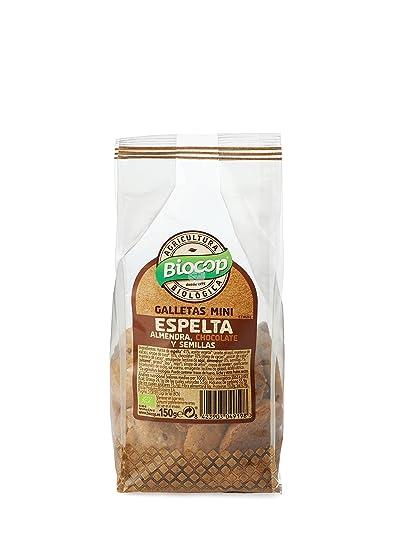 GALLETAS MINI ESPELTA ALMENDRA CHOCOLATE Y SEMILLAS BIO BIOCOP 150 GR