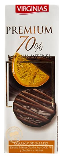 Virginias - Galleta Premium 70% Cacao A La Naranja 120 g
