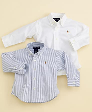 dba2a5be5 Image Unavailable. Image not available for. Color: Polo Ralph Lauren Baby Boys  Oxford Shirt White ...
