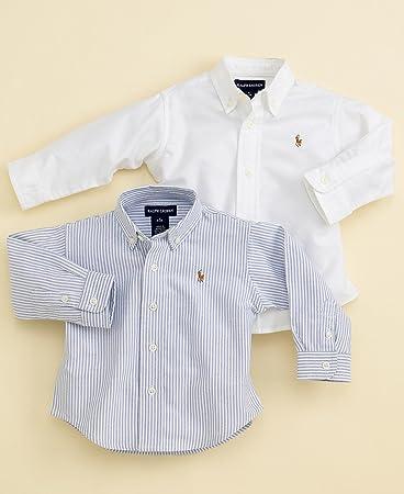 22d23a8cdae8 Amazon.com  Polo Ralph Lauren Baby Boys Oxford Shirt White 9 months ...