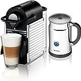 Nespresso A+C60-US-SS-NE Pixie Espresso Maker with Aeroccino Plus Milk Frother, Chrome