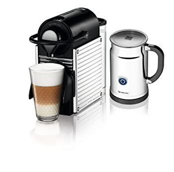 Nespresso A+C60-US-SS-NE Pixie Espresso Maker with Aeroccino Plus Milk Frother