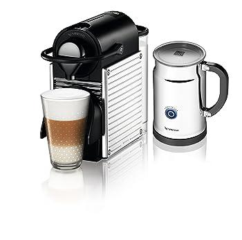 Nespresso A+C60-US-SS-NE Pixie Espresso Maker with Aeroccino Plus Milk Frother