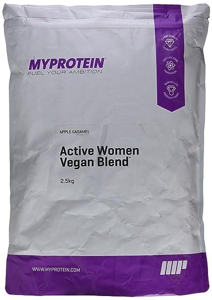 MyProtein Active Woman Blend Mezcla Vegana de Proteínas, Sabor Manzana y Caramelo - 2500 gr
