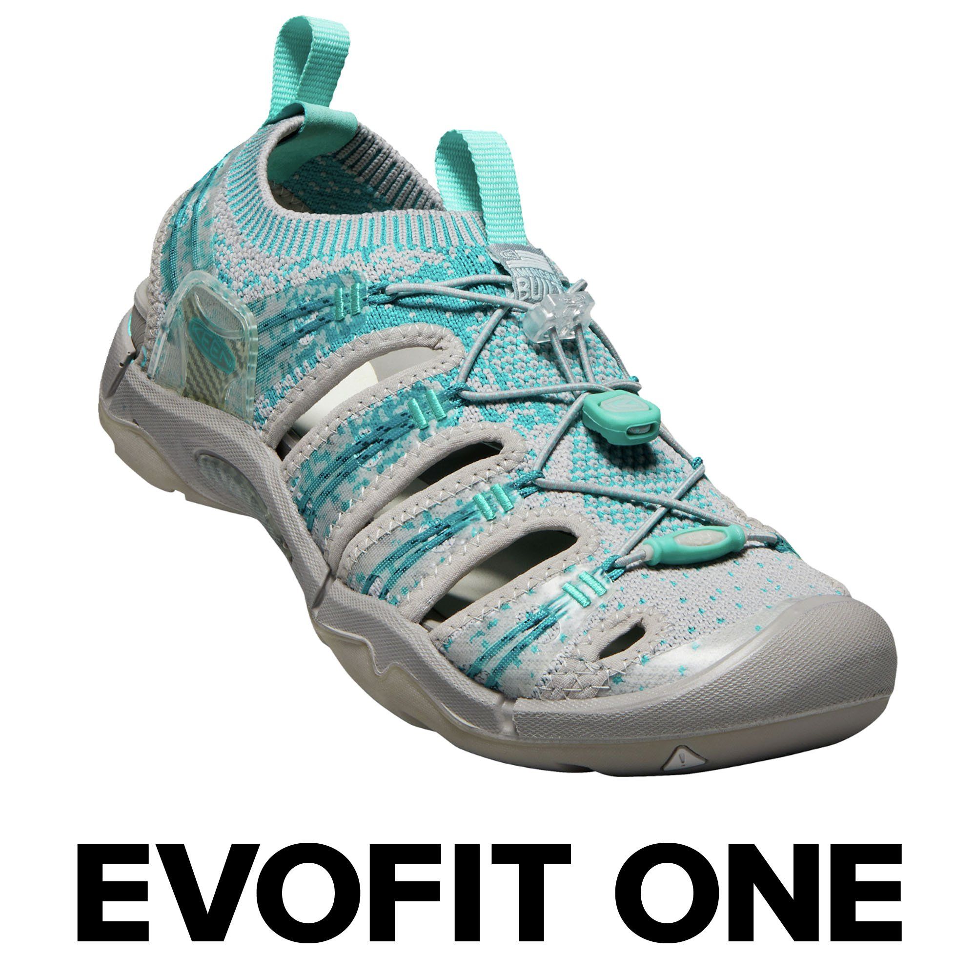 KEEN Women's EVOFIT One Water Sandal for Outdoor Adventures, 9 M US, Paloma/Lake Blue