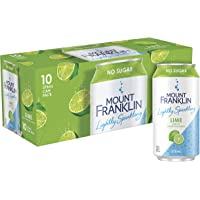Mount Franklin Lightly Sparkling Lime 10 x 375ml Cans