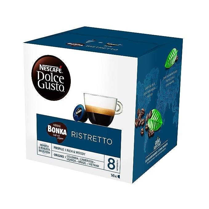 NESCAFÉ Dolce Gusto Café BONKA, Pack de 3 x 16 Cápsulas - Total: 48