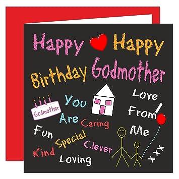 Godmother Happy Birthday Card