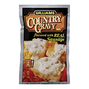 WILLIAMS Gravy Mix with Sausage, 2.5-Ounce (Pack of 12)