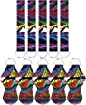 5 Pairs Vibrant Chapstick Holder Keychains, Neoprene Lipstick Holder Keychain Protective Cases with Wristlet Lanyard, Portable Balm Holders Pouch for Girls Women (Abstract)