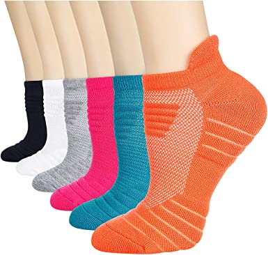 Women/'s 12 Pairs Low Cut Running /& Athletic Performance Tab Socks R Space Dye