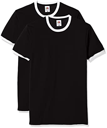 Fruit of the Loom Valueweight Ringer T, Camiseta para Hombre: Amazon.es: Ropa y accesorios