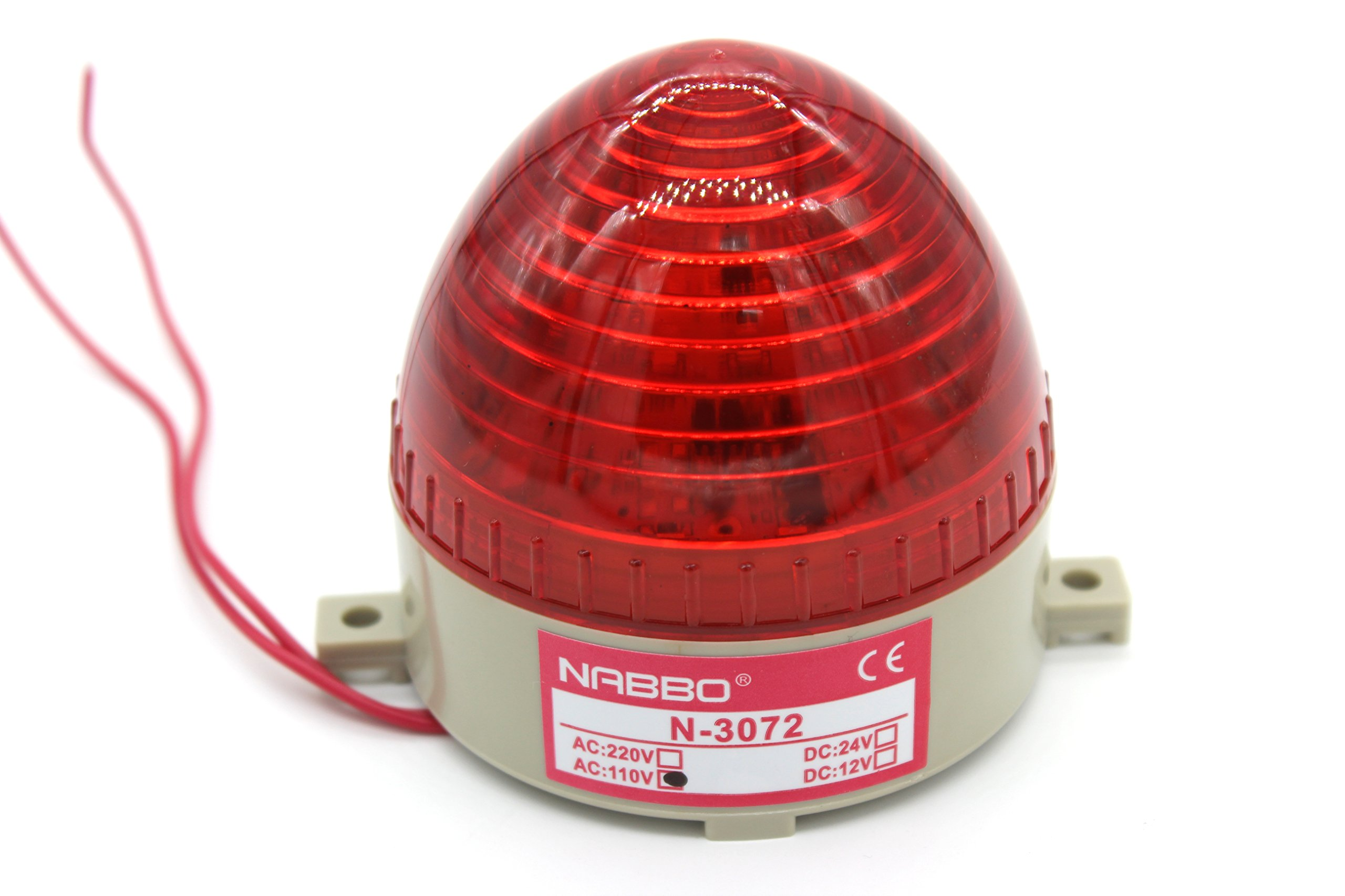 Industrial AC 110V Red LED Warning Light Bulb Signal Tower Lamp N-3072 Steady Flash