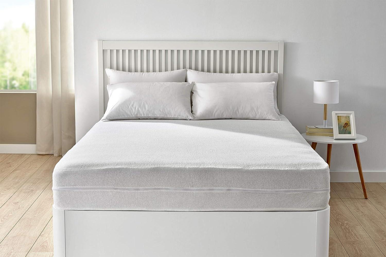 Pikolin Home - Funda de colchón rizo Aloe Vera, 105 x 190/200 cm, cama 105 (Todas las medidas): Amazon.es: Hogar