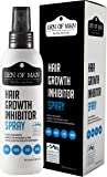 Den of Man® 100% Natural Hair Growth Inhibitor Spray | For Use After Hair Removal From Body & Face | Permanently Minimizes Regrowth | Safe For Men & Women |