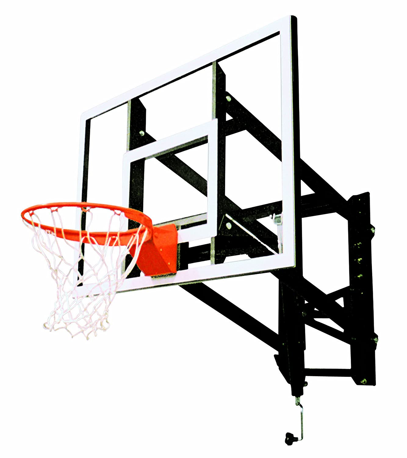 Amazon.com : Goalsetter GS48 Wall Mounted Adjustable Basketball System With  : Sports U0026 Outdoors