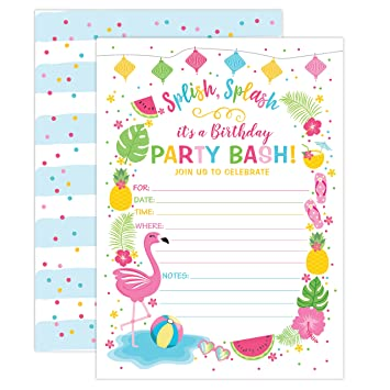 Amazon Your Main Event Prints Flamingo Birthday Invitation