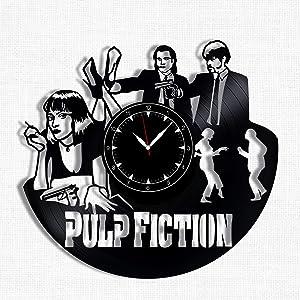 Pulp Fiction Vinyl Record Clock - Wall Clock Pulp Fiction - Best Gift for Pulp Fiction Lover - Original Wall Home Decor