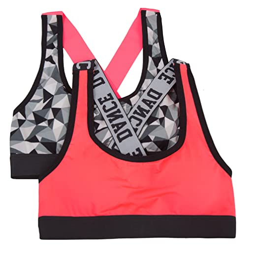 81f77bc352 Amazon.com  Fruit of the Loom Banded Sports Bra (Pack of 2) Bra ...
