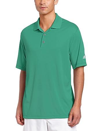 adidas Golf Men's Climalite Solid Polo Shirt, Amazon, Small