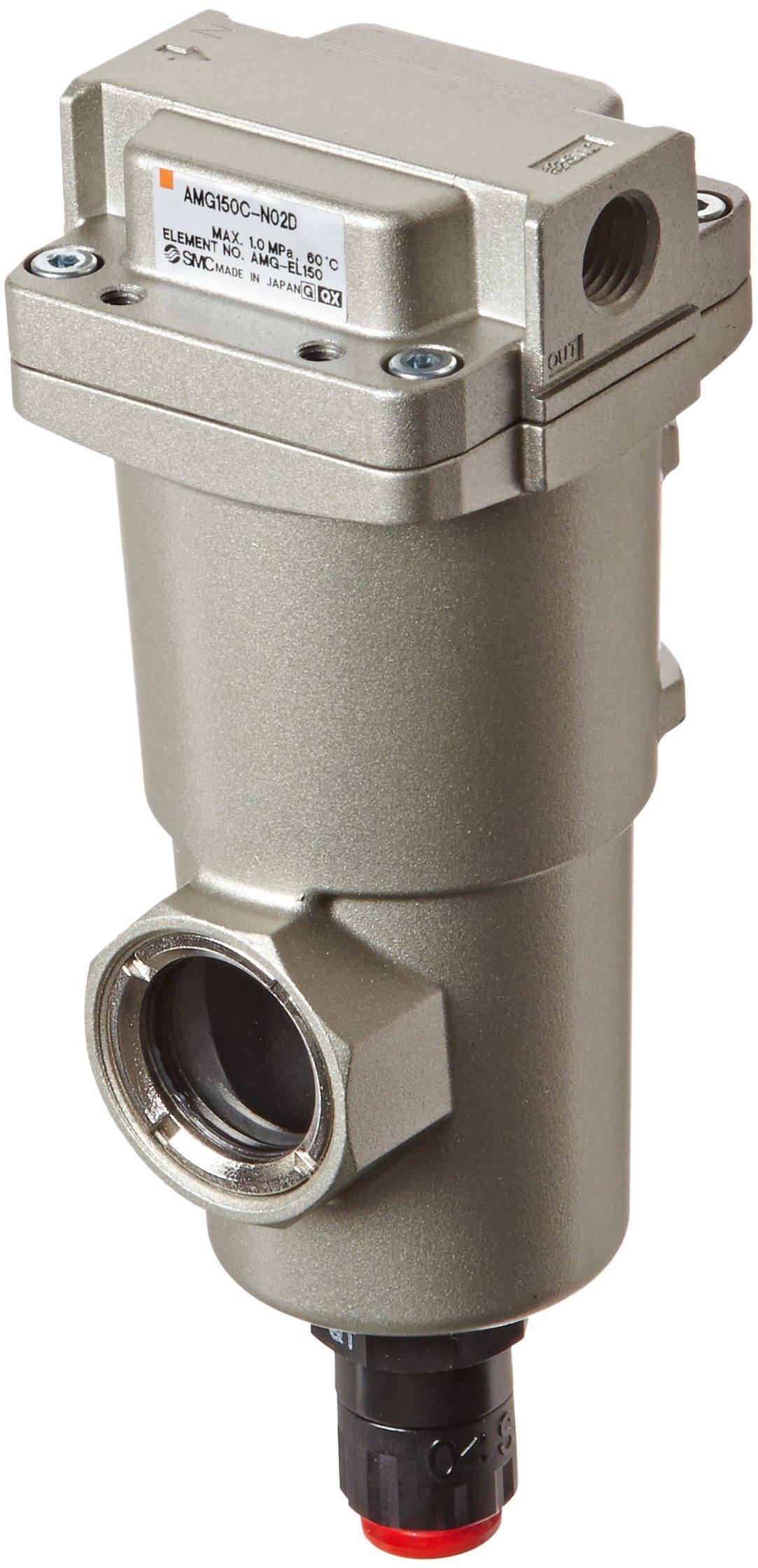SMC AMG150C-N02D Water Separator, N.O. Auto Drain, 300 L/min, 1/4'' NPT