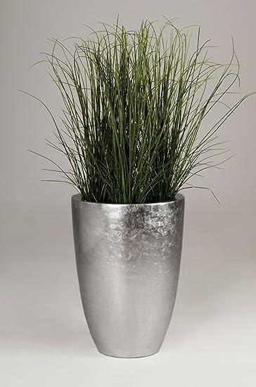Exklusive Pflanzkübel pflanzkübel pflanzgefäß blumenkübel exklusiv fiberglas silber opala