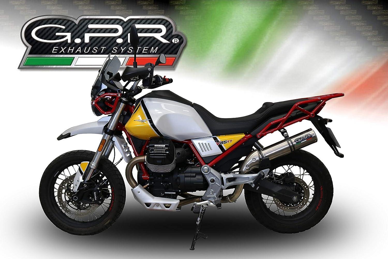Gpr Auspuff Kompatibel Mit Motorrad Guzzi V85 Tt 2019 2020 Auspuff Zugelassen Mit Racing M3 Titanium Natural Auto