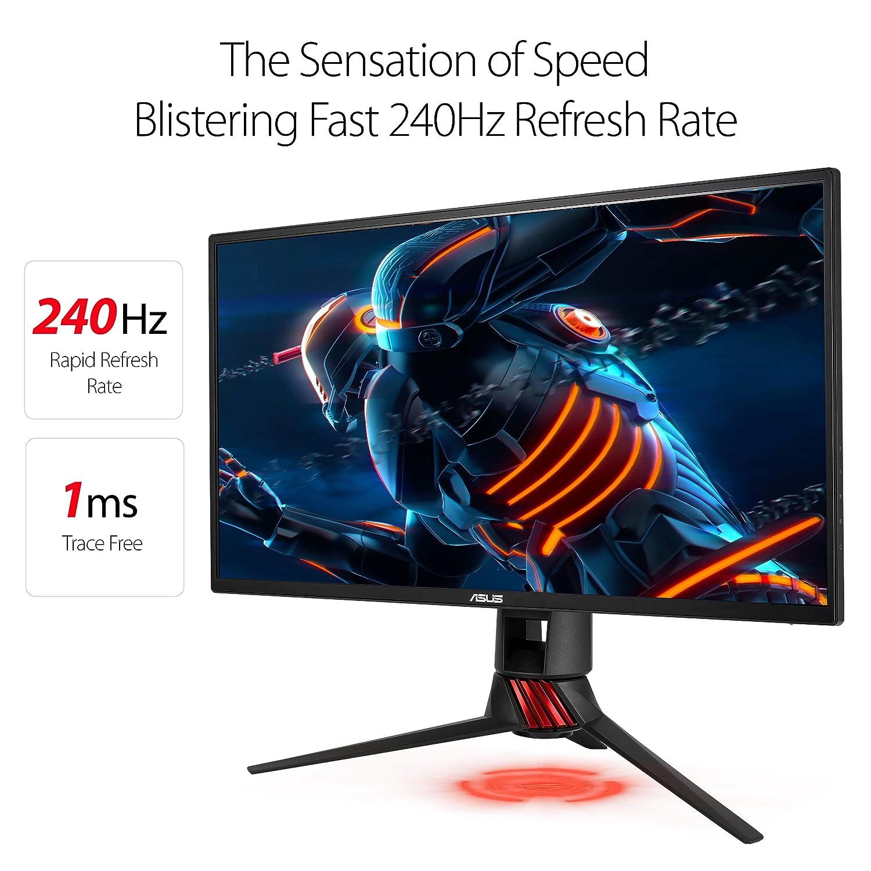 ASUS ROG Strix XG258Q 24.5 Gaming Monitor Full HD 1080P 240Hz 1ms Eye Care G-Sync Compatible Adaptive Sync Esports with DP Dual HDMI