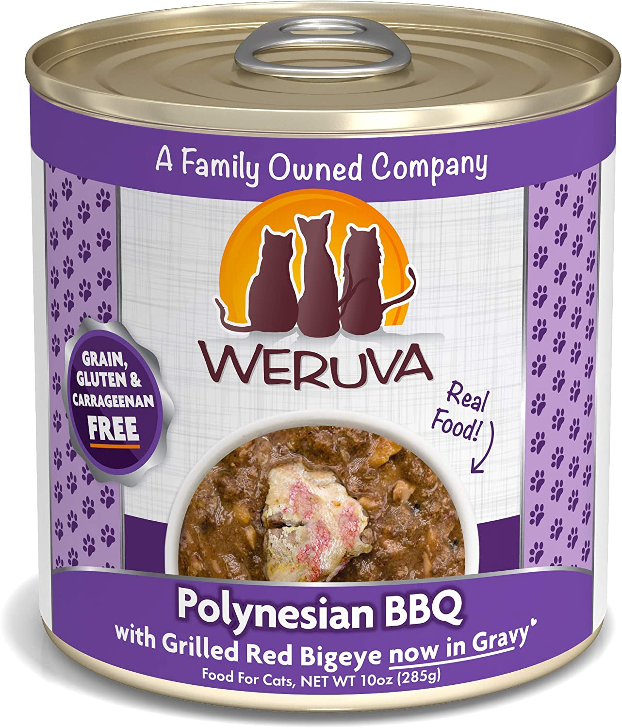 Weruva Classic Cat Food, Polynesian Bbq With Grilled Red Bigeye In Aspic, 10Oz Can (Pack Of 12)