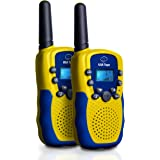 """USA Toyz Walkie Talkies for Kids - """"Vox Box"""" Voice Activated Kids Walkie Talkies Long Range Radios with 3+ Mile Range 22 Channels Backlit LCD Display LED Flashlight and Earbud Jack"""