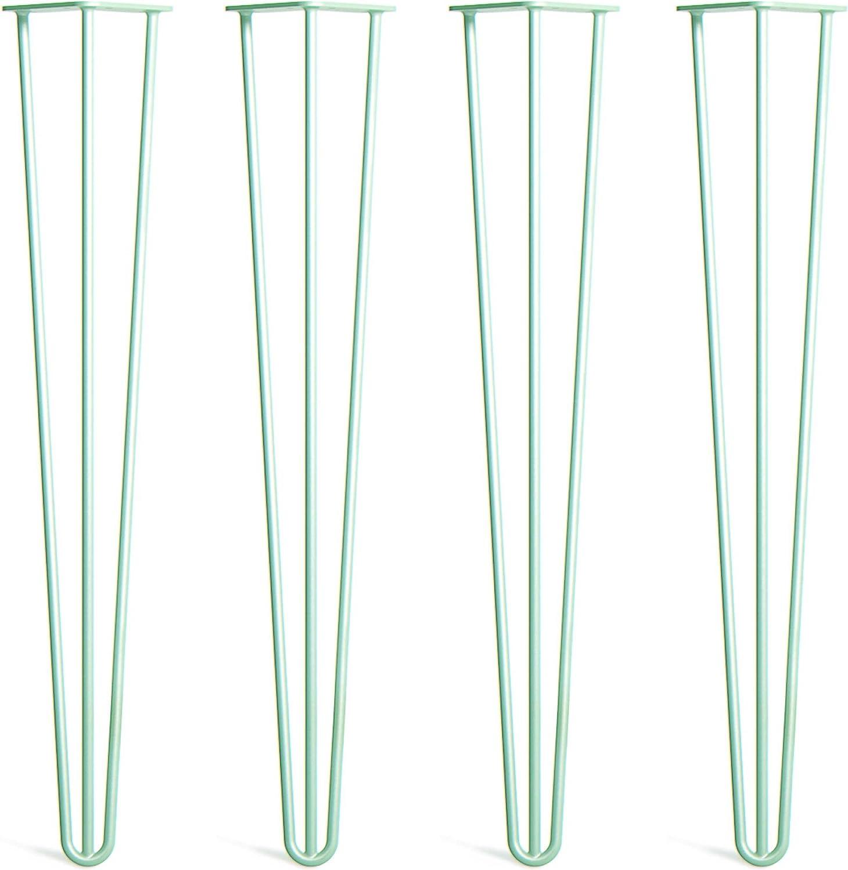 Prot/ège-Pieds Guide Installation Et Vis Inclus Style Milieu Du 20/ème Si/ècle Lot 4 Pieds En /Épingle /À Cheveux En Acier Double 12mm Disponible Dans 40cm-86cm Et Une Gamme Compl/ète De Finitions