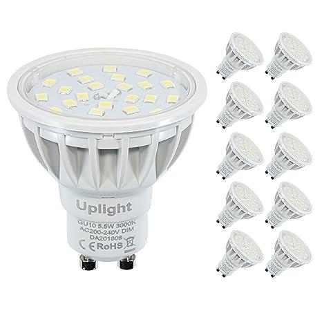Regulable GU10 LED Bombillas Equivalente 50-60W bombillas de Halógeno Blanco Cálido 3000k Alto CRI