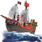 Vinsani Childrens Kids Pirate Ship Boat Treasure Island Toy Play Set