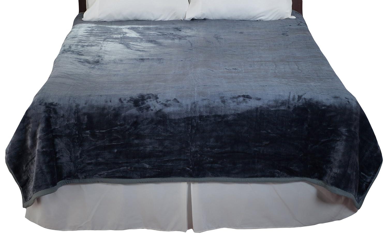 Grey Bedford Home Solid Soft Heavy Thick Plush Mink Blanket, 8-Pound, Beige