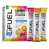 iFUEL Energy Electrolyte Drink Mix   Sugar Free, Natural Caffeine, 1,000mg Electrolytes, 7 B-Vitamins, Packed with…