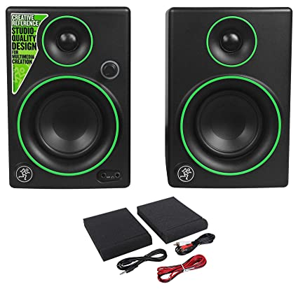 2 Mackie CR3 3quot Studio Computer Podcast Podcasting Reference Monitors Speakers