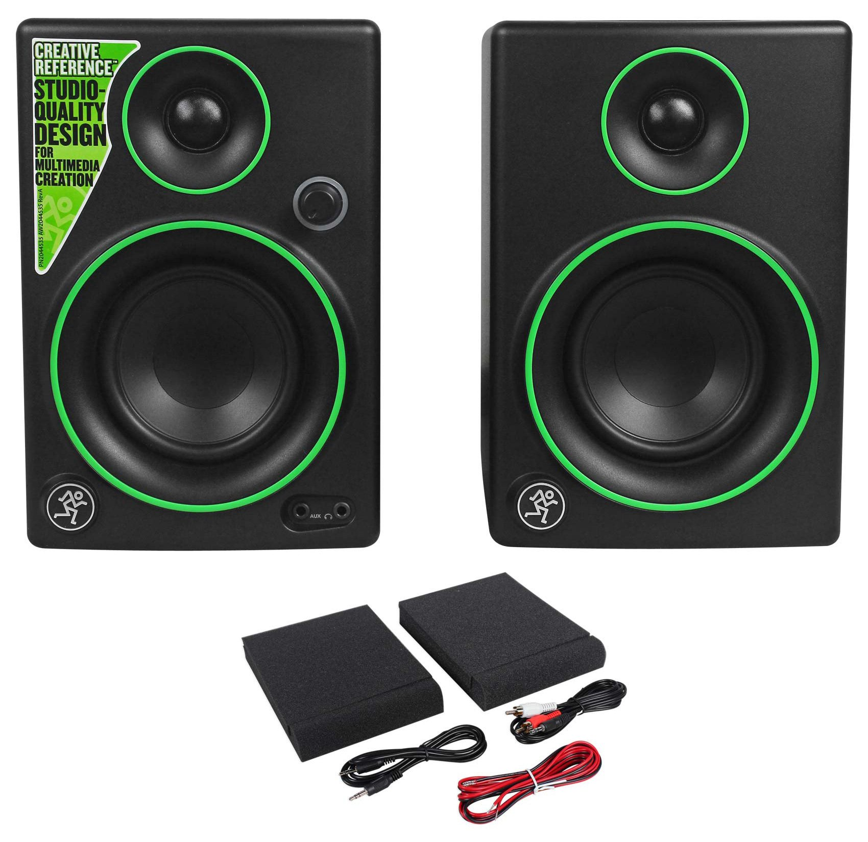 (2) Mackie CR3 3'' Studio/Computer/Podcast Podcasting Reference Monitors Speakers
