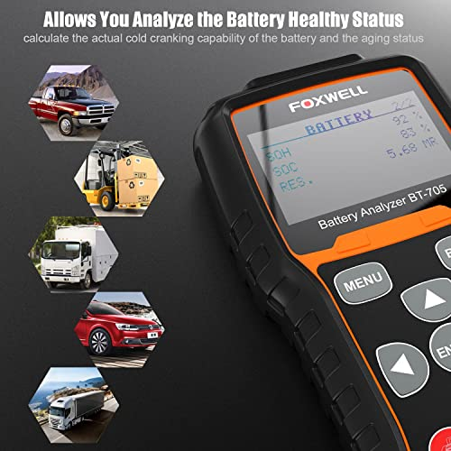 Foxwell BT780 automotive battery tester is appropriate for technicians and DIY who wants to test the health status of their batteries.