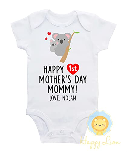 2cfffc05e Happy Lion Clothing - First Mother's day Onesie®, koala, personalized first Mothers  day outfit, first mothers day gift, unisex first mothers day outfit