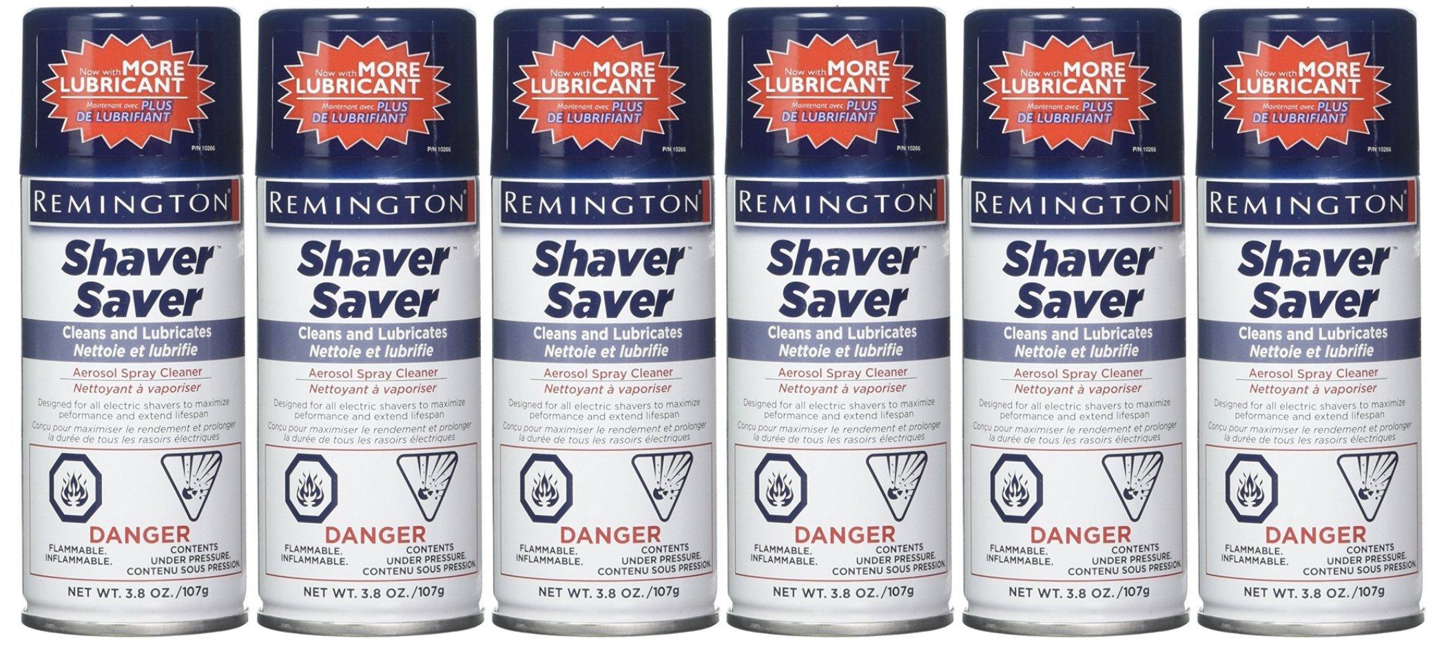 Remington Shaver Saver Aerosol spray Cleaner , Model SP-4 3.8 oz (Quantity of 6)