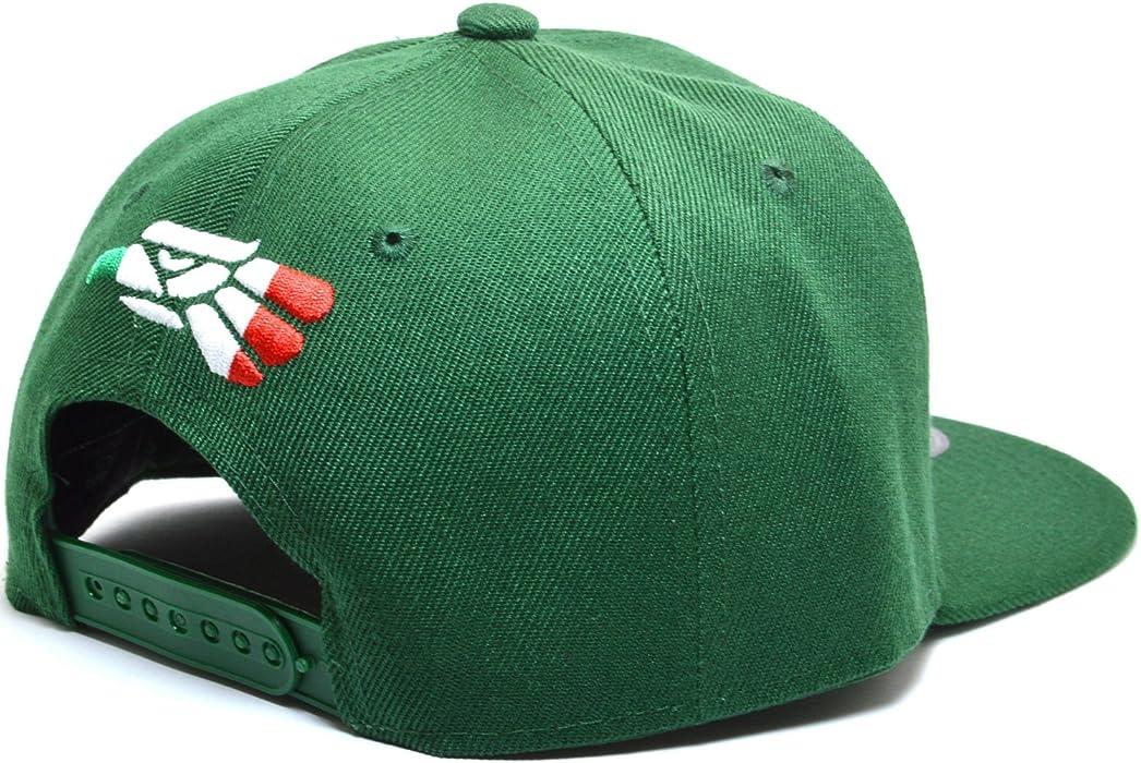 c9fe96b8404 Hecho EN Mexico Baseball Cap Eagle Mexican Aguila Snapback Flat Hat AYO1092