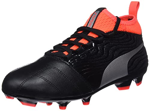 Puma One 18.3 FG, Chaussures de Football Homme, Noir Black Silver-Red Blast, 40.5 EU